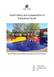 20190911 Health effects due to evaporation of liquids pdf