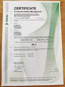 Functional Safety Management System certified (SIL 4)