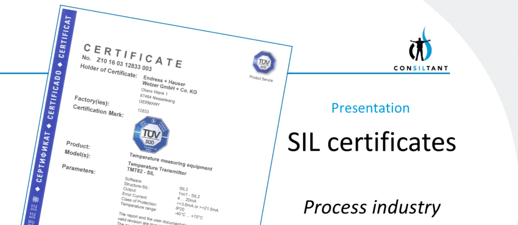 Presentation about SIL certificates