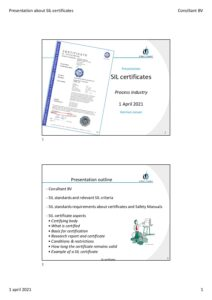 Presentation about SIL certificates pdf